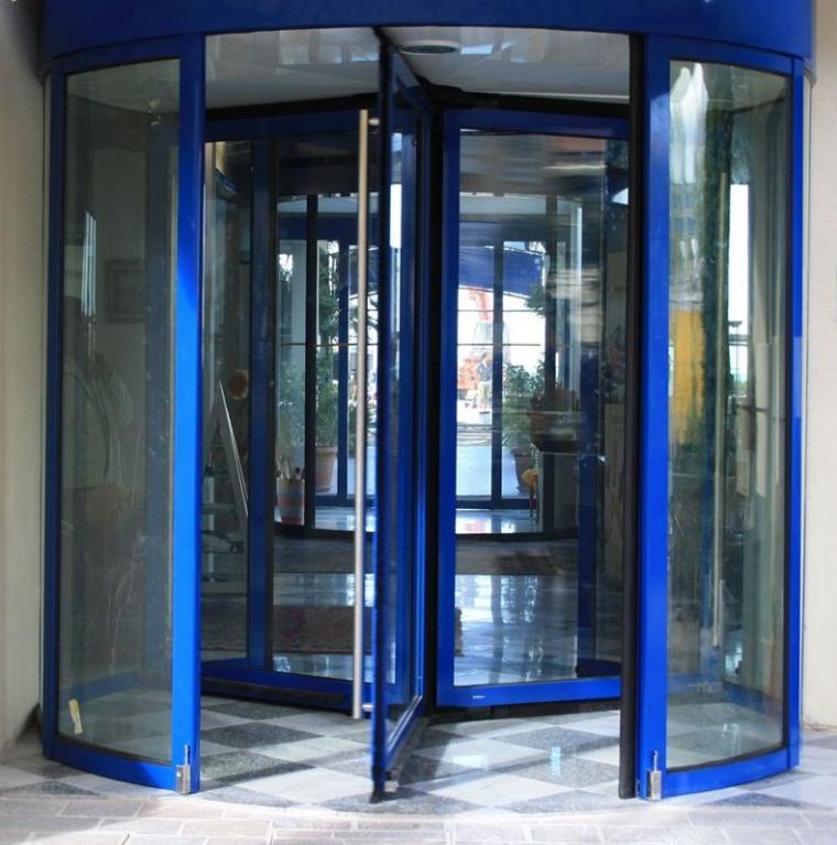 Portas giratórias automáticas